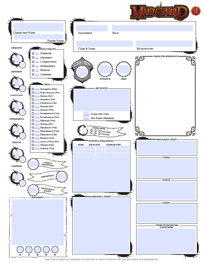 Superb image for dnd 5e printable character sheet