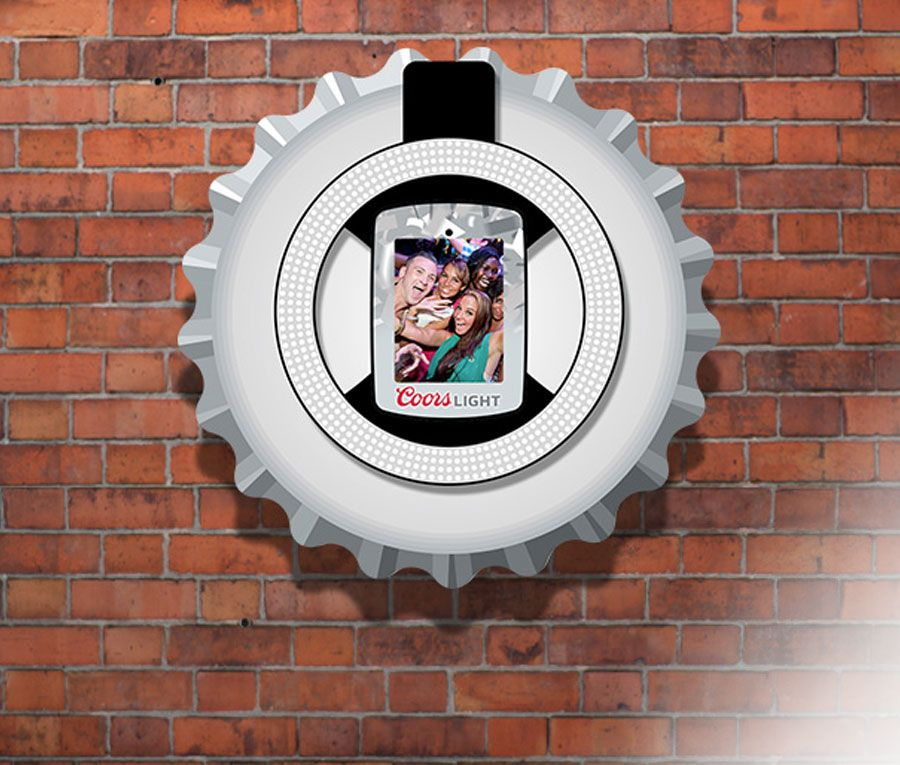 Wall Mounted Photo Booth The Branded Head Unit Features An LED Ring Light That Captures Beautiful
