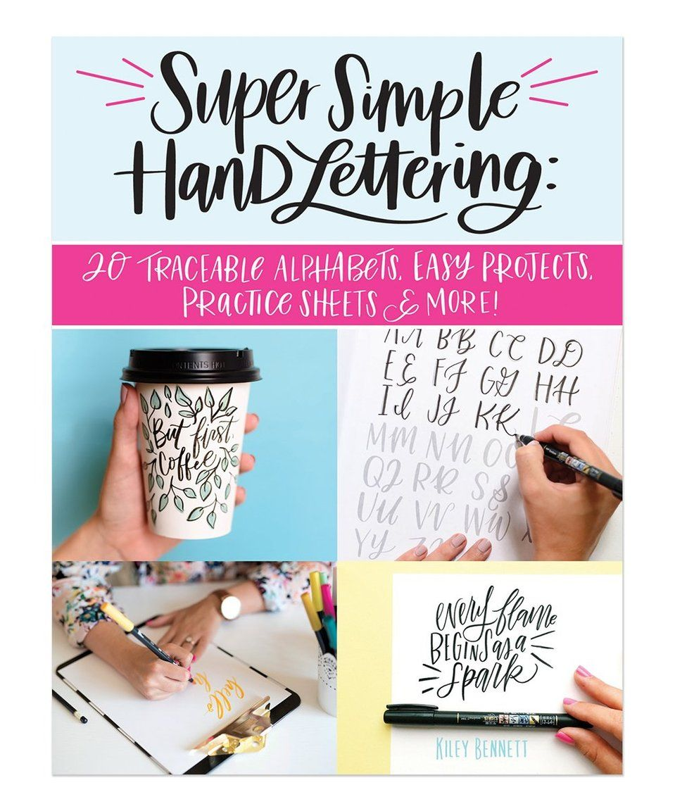 Take a look at this Super Simple Hand Lettering Paperback