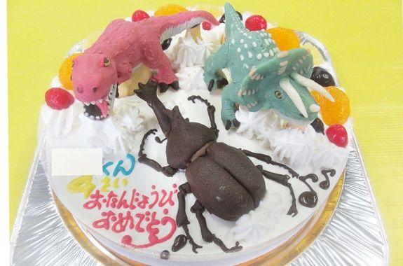 恐竜ティラノサウルス、トリケラトプス、カブトムシケーキ ...