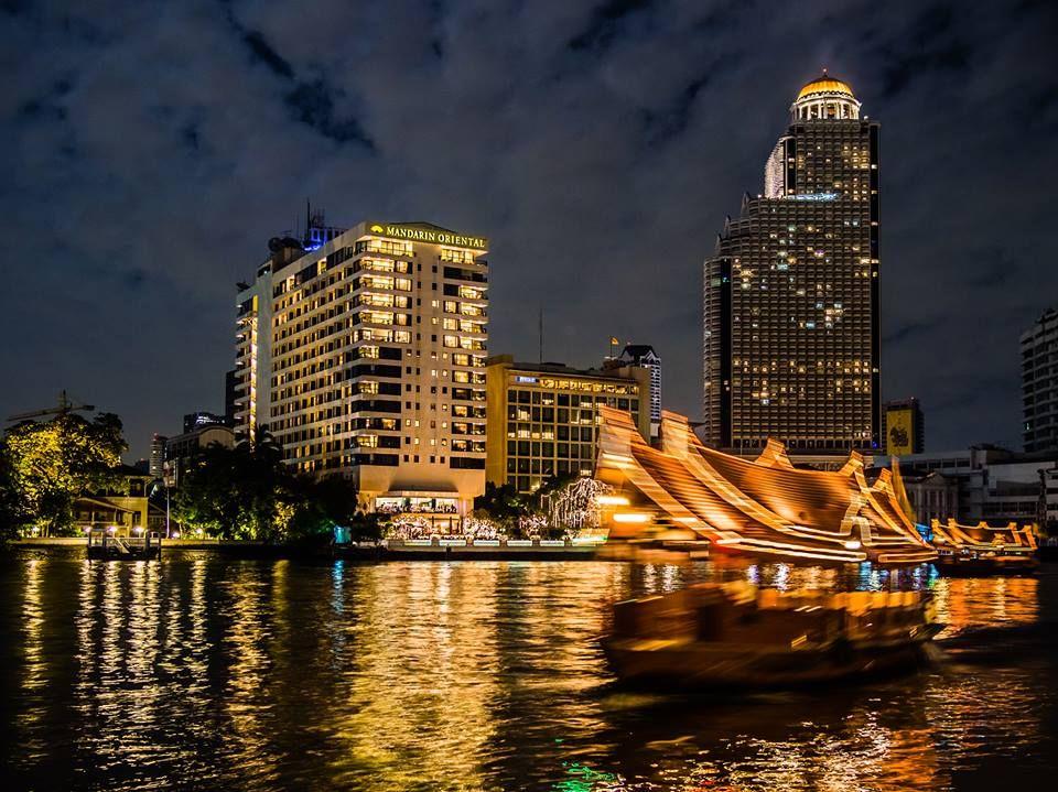 The Chao Phraya river in Bangkok. The Mandarin Oriental