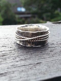 Idylliz 109 Aparte Geoxideerde Zilveren Ring Breed Hol