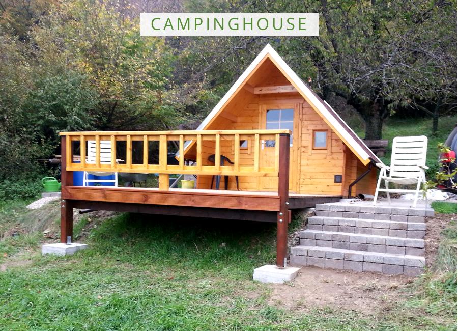 Campinghouse 44 Iso Gartenhaus Haus Terrassen Gelander