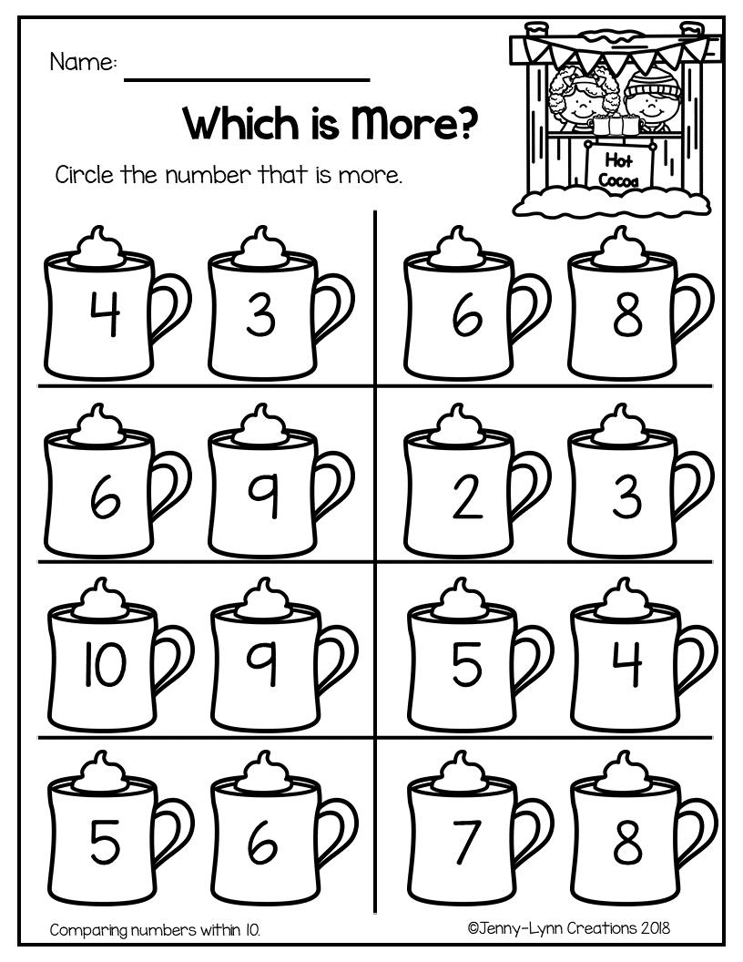 January Math Literacy Math Centers Kindergarten Preschool Worksheets Preschool Math [ 1056 x 816 Pixel ]