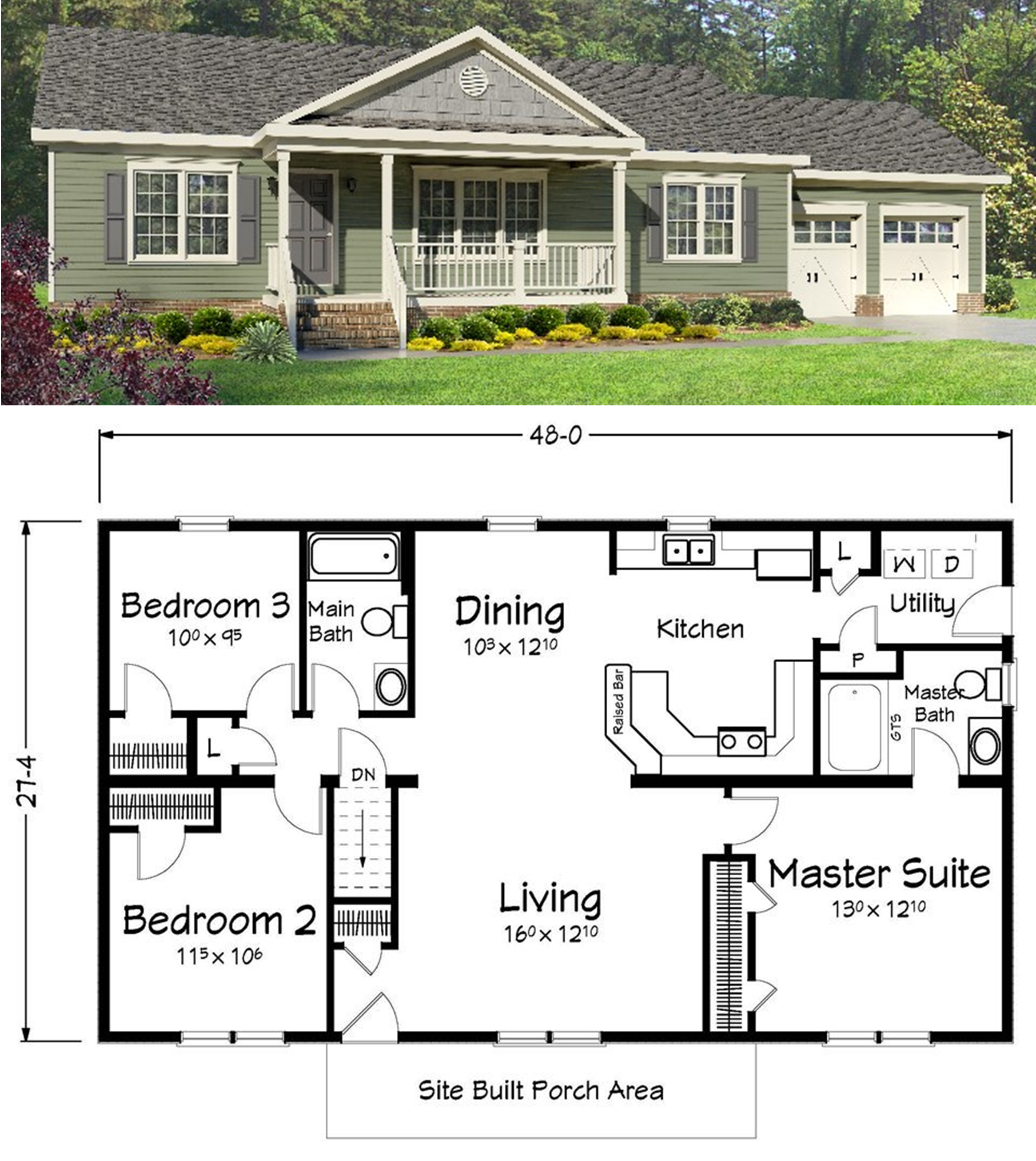 What do you think of this ranch style home ranch style Small ranch home plans