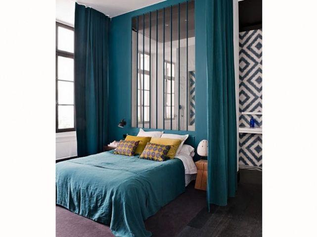 Chambre On Mise Sur Des Murs Colores Linge De Lit Bleu Deco