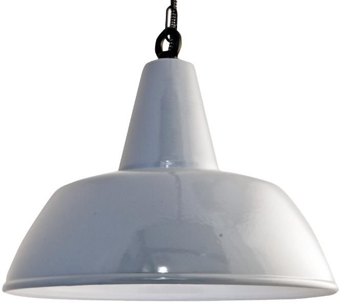 Enamel lamp / light - Emalivalaisin Kattovalaisin, halk. 40 cm Harmaa - Domus Classica verkkokaupasta www.domusclassica.com