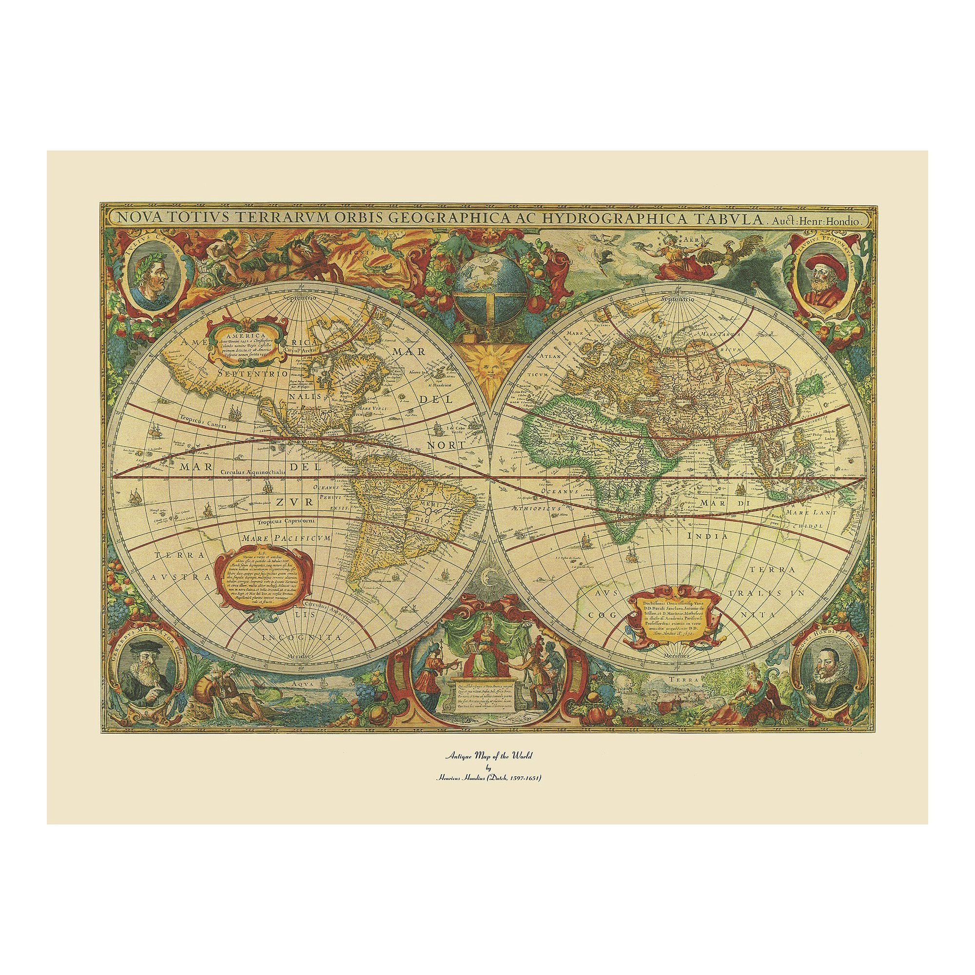 Trademark Fine Art \'Old World Map Painting\' Ready to Hang Canvas ...