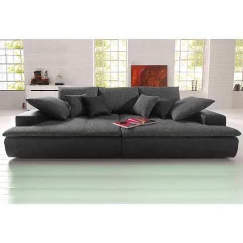 Canape Xl Ou Xxl Microfibre Et Tissu Aspect Tweed 3suisses Big Sofas Deep Sofa Sofa