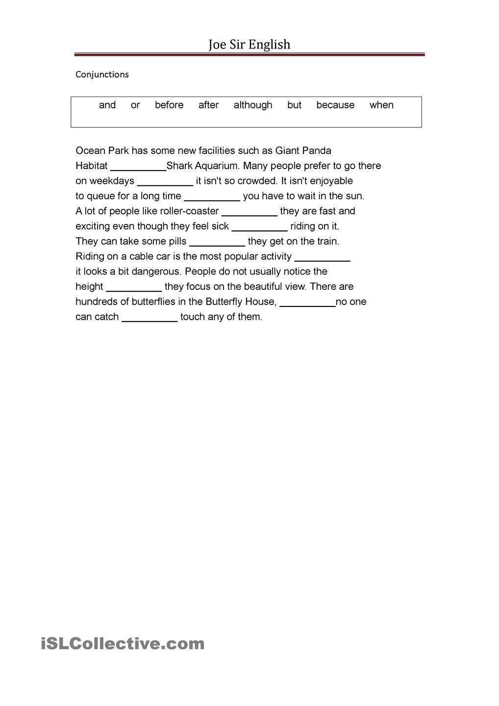 Worksheets Conjunctions Worksheets conjunctions pinterest student centered conjunctions