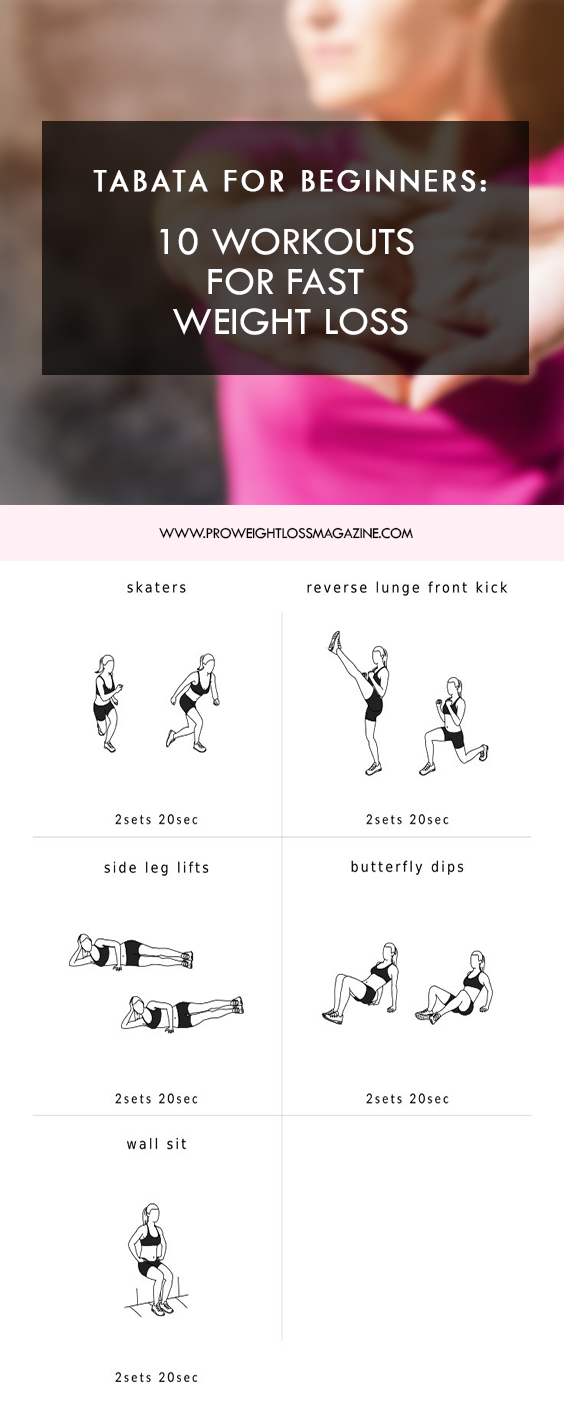 Tabata for Beginners: 10 Workouts for Fast Weight Loss -   18 fitness workouts thighs ideas