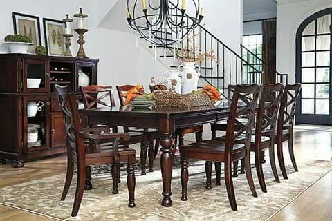 ashley furniture barbados- porter dining collections | redefining