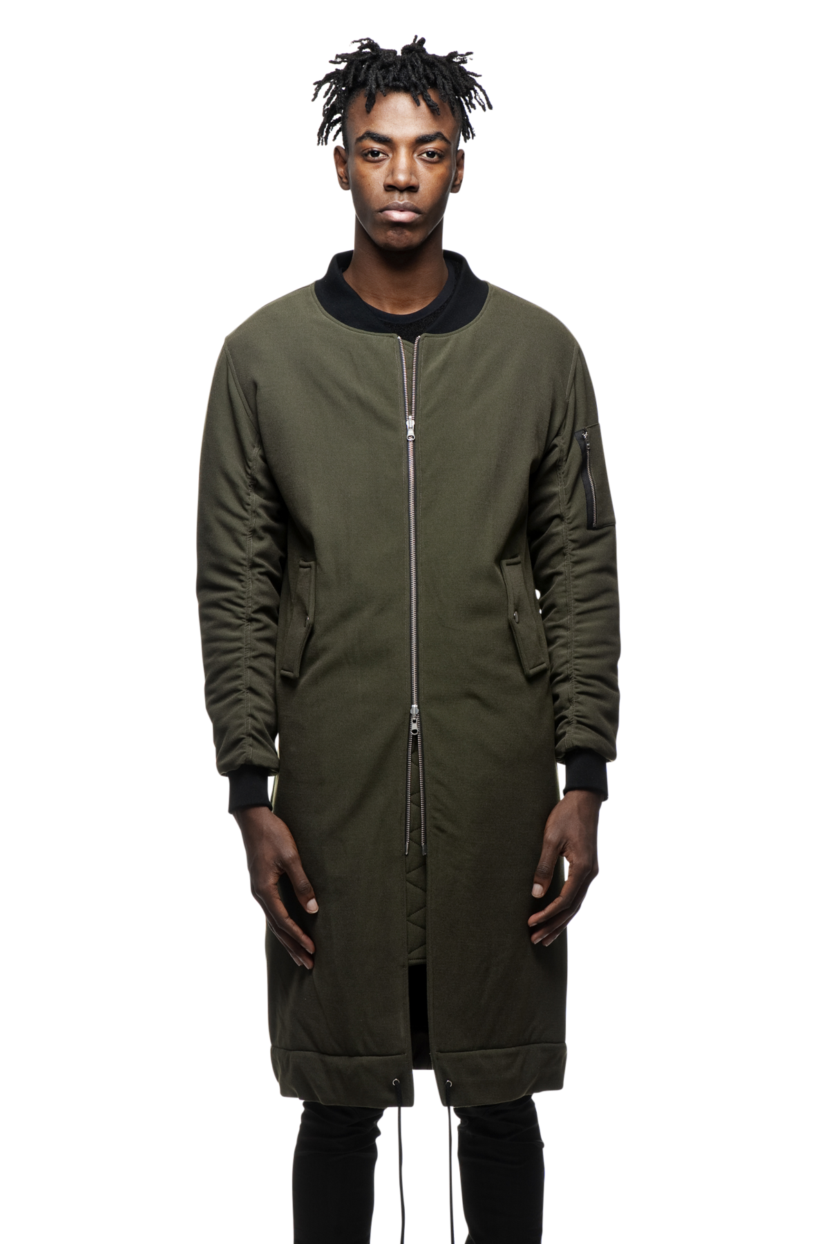 The Reversible Bomber features an elongated lightweight