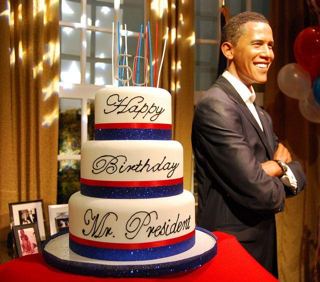 President Obamas 50th Birthday Cake 2011 Goat Pinterest Obama