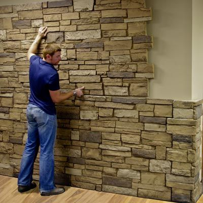 The 25 Best Fake Stone Wall Ideas On Pinterest Interior