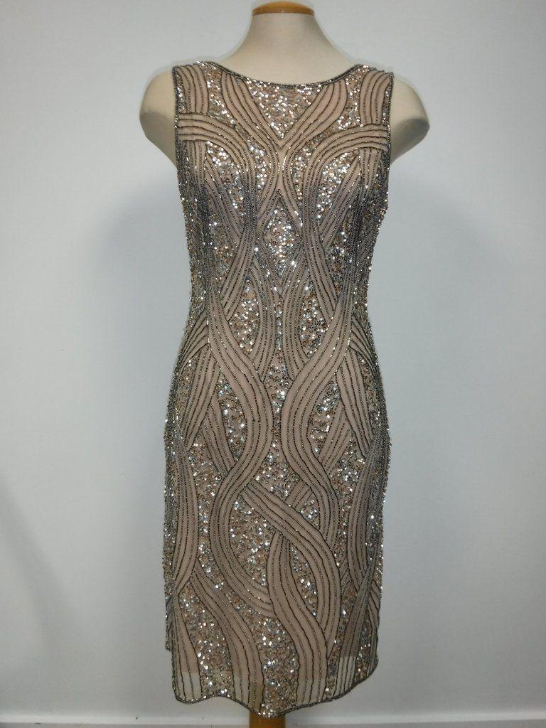 b2972929dc31 Frank Lyman Blush Sequin Dress