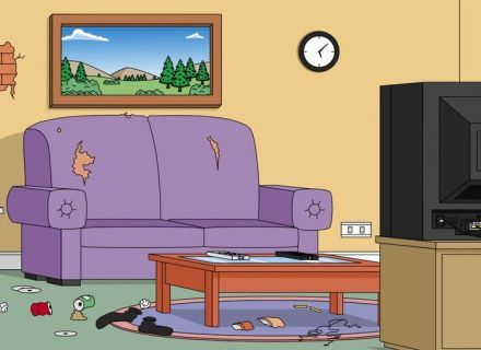 Living Room Anime Animated Cartoons Studio