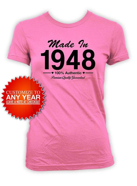 Funny Birthday T Shirt 70th Bday Present For Her Custom TShirt Gift Mad