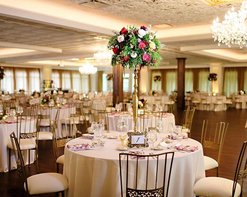Ballroom Set For Wedding Reception At Black Iris Estate In Carmel