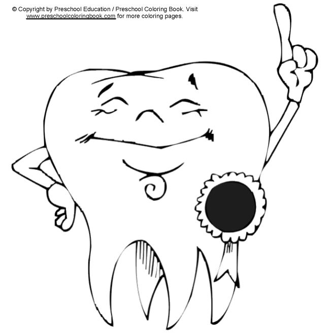 Proud Tooth Coloring Page | Fun Dental Activity Sheets | Pinterest