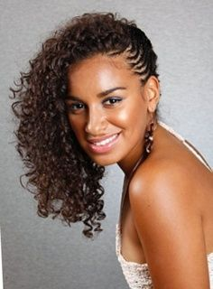 Side Swept Braided Hairstyles African American Google Search Natural Hair Styles Natural Hair Braids Braided Hairstyles