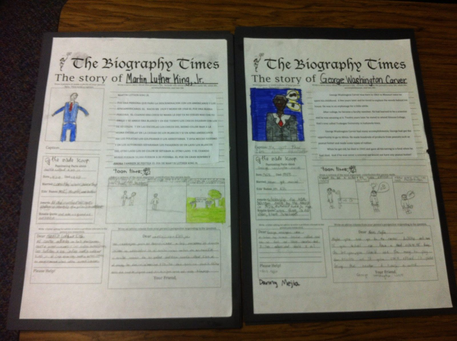 Image Result For Biography Projects Done By 5th Graders