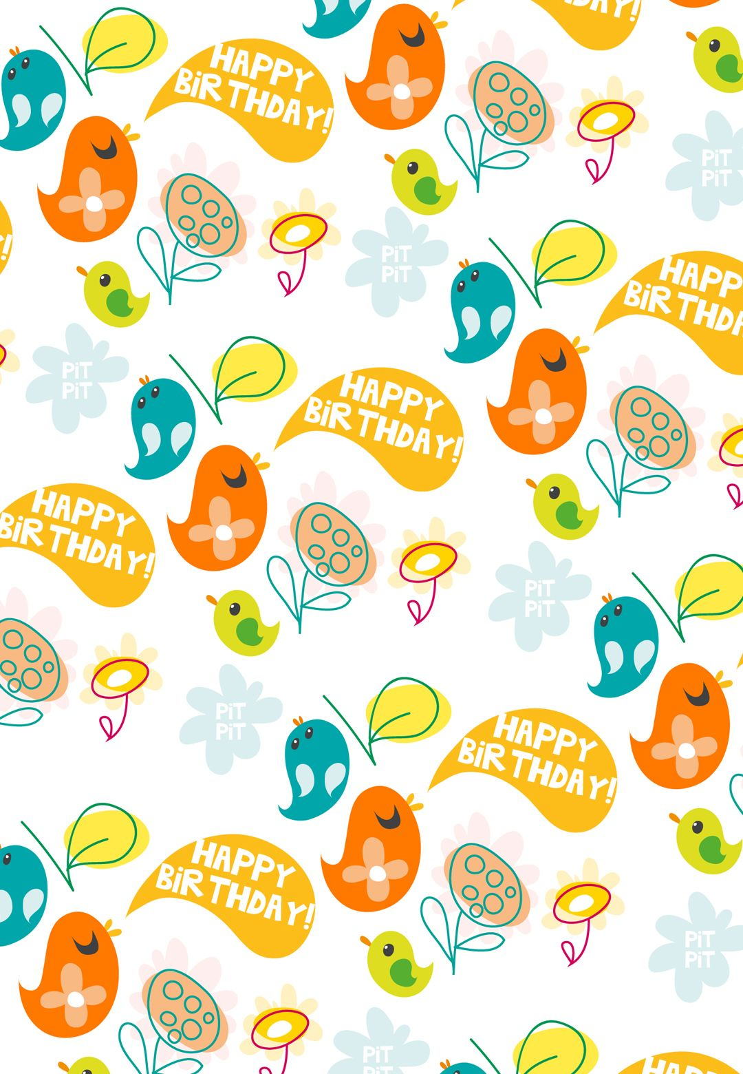 free printable birthday birds greeting card birthday birthdayparty
