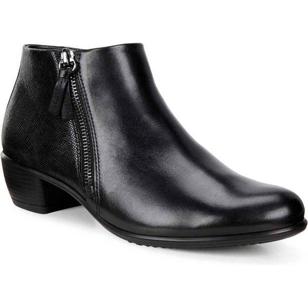 833bc6be4d5 ECCO Women's Touch 35 Bootie Black Dress Shoes (€145) ❤ liked on ...