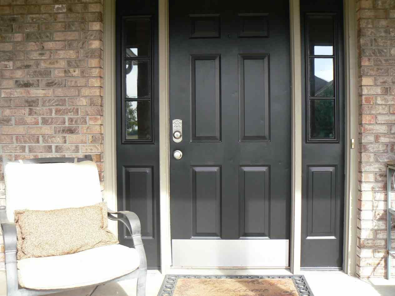 Black black front door hardware front door with white storm after