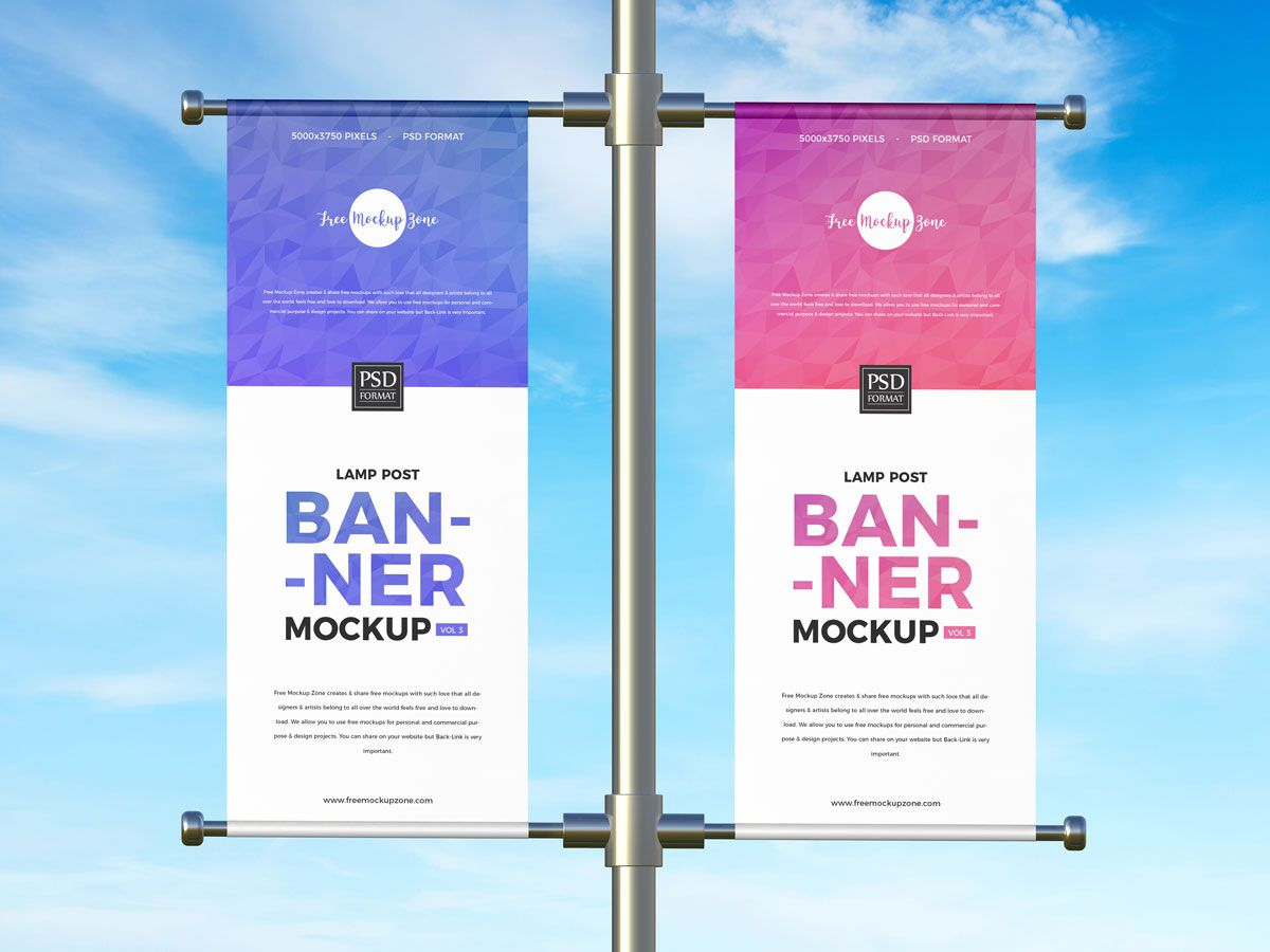 Free Outdoor Advertising Lamp Post Banner Mockup Design Mockup Planet Mockup Design Outdoor Advertising Banner Design Inspiration