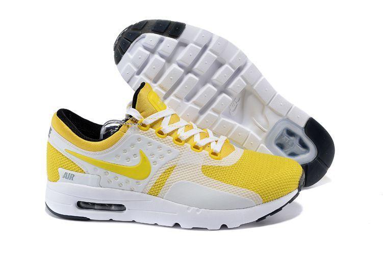 check-out fb31a 09bf3 nike zero prix air max zero blanche et jaune femme | Solds ...