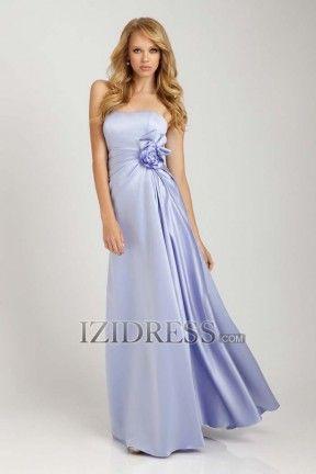 Sheath/Column Strapless Sweetheart Taffeta Evening Dress - IZIDRESS.com