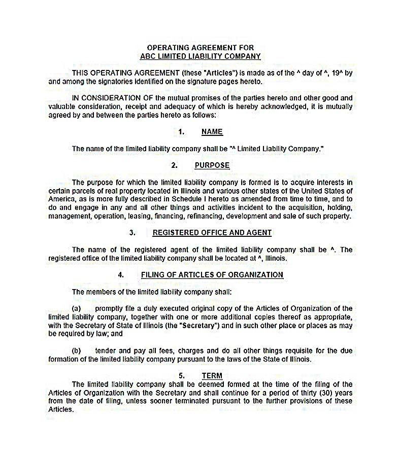 operating agreement llc california , 23+ LLC Operating Agreement - Mutual Agreement Template
