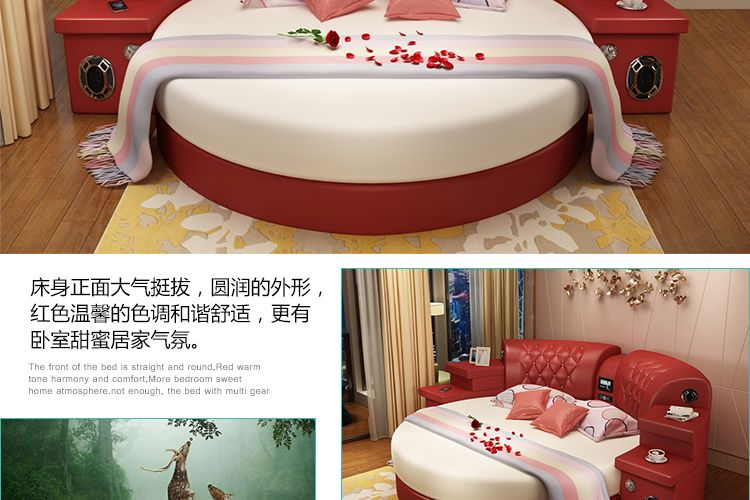 Round Bed Double Bed Double Bed 22 Wedding Bed-in Bedroom Sets from