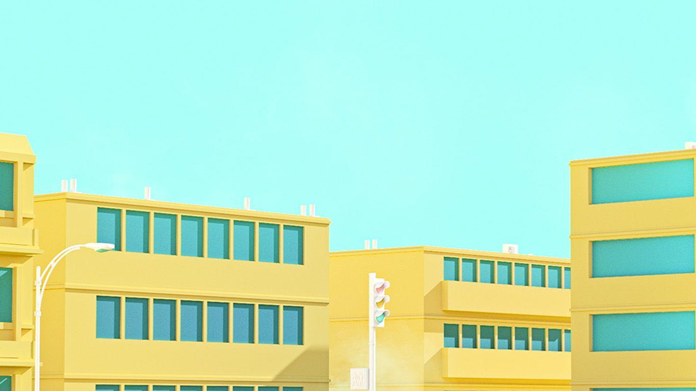 Bf54 School Anime Illust Yellow Minimal Simple Art Aesthetic Desktop Wallpaper Desktop Wallpaper Art Minimal Desktop Wallpaper