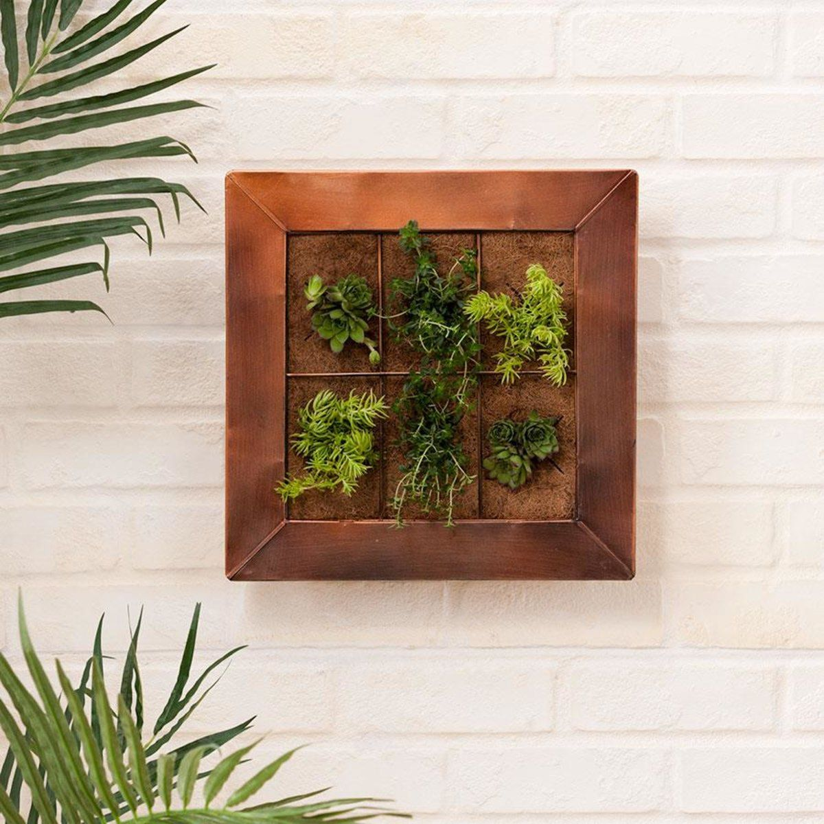 copper wall planter home co - Outdoor Planter Wall Kitchen Designs