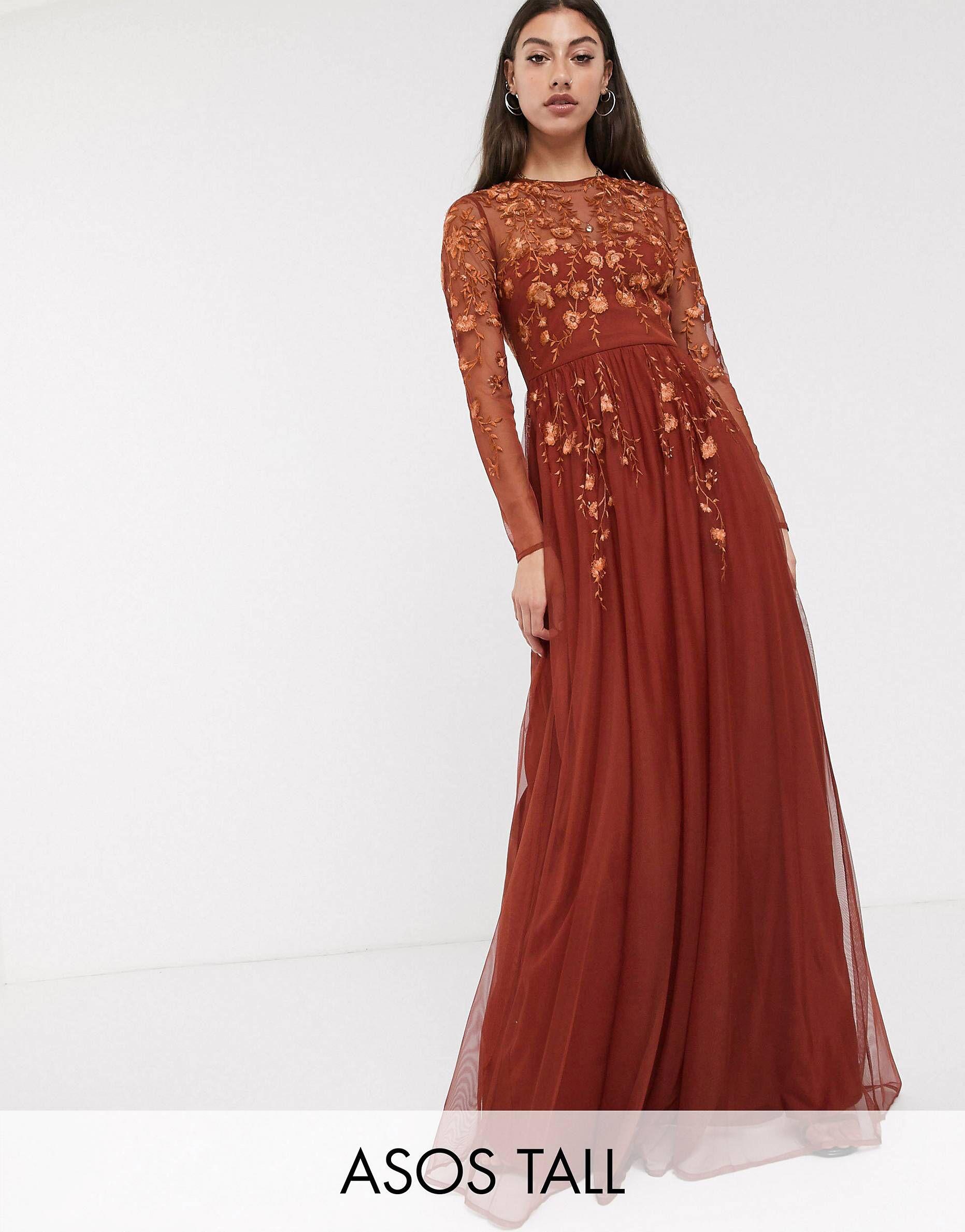 Pin By Tori Whitehead On Wedding Ideas Long Sleeve Bridesmaid Dress Long Sleeve Maxi Dress Orange Long Sleeve Dress [ 2378 x 1863 Pixel ]