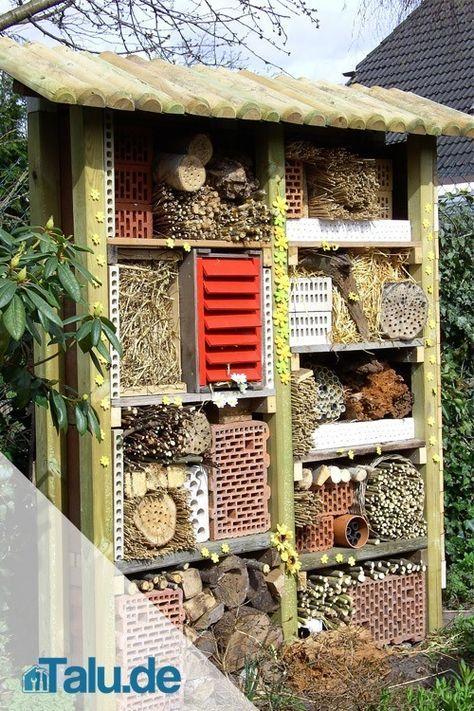 Insektenhotel selber bauen - kostenlose Bauanleitungen