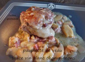 paupiettes de veau sauce aux champignons et lardons | Paupiette de veau, Paupiette et Sauce aux ...