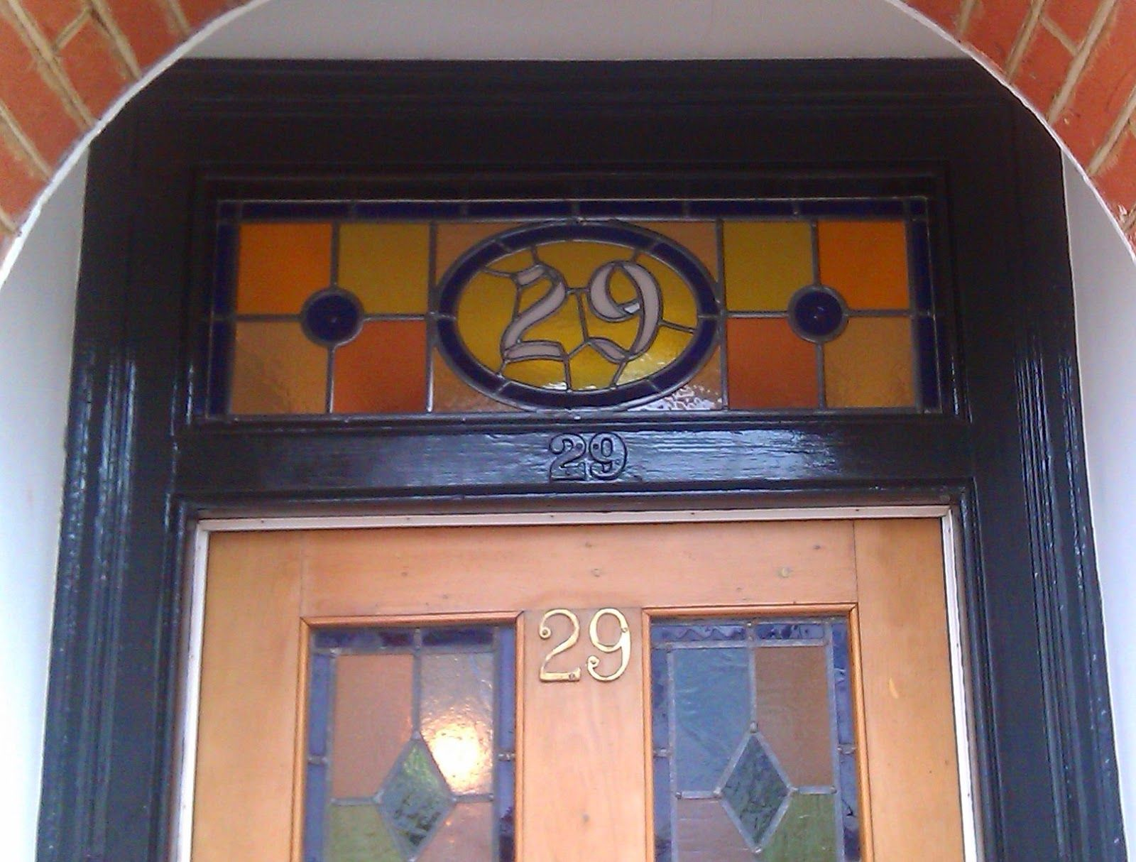 Stained Glass House Number Sw19 Doors Pinterest Glass Houses