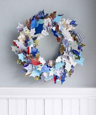 Couronne de Noël recyclée