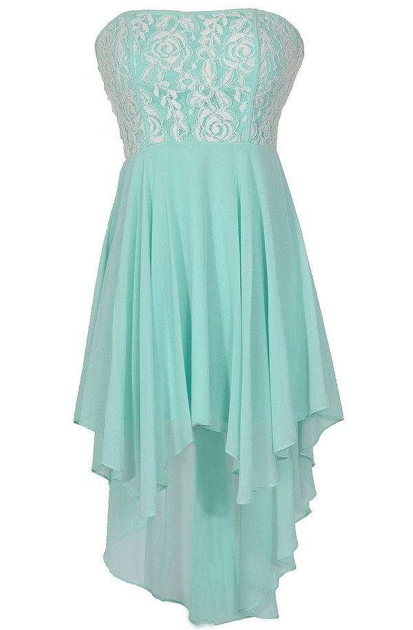 Beautiful Crme De Menthe Dress In Mint  Aqua - With Lace -1970