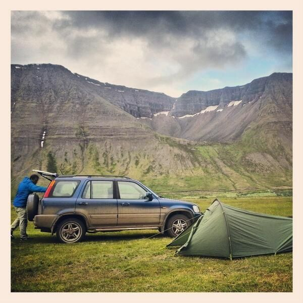 Scenic Camping In Ísafjörður In The Western Fjords Of