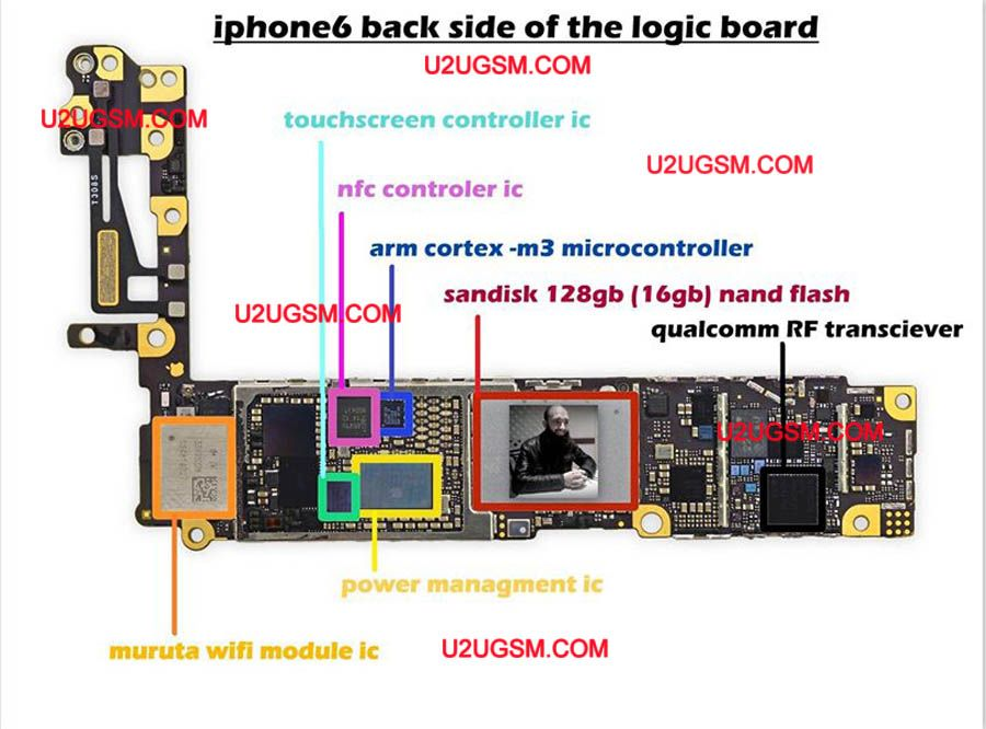 iPhone 6 Full PCB cellphone Diagram Mother Board Layout. | Download