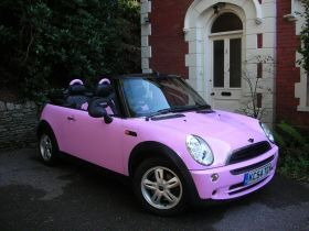 Pink Convertible Mini Cooper My Dream Car Coopers Wheels