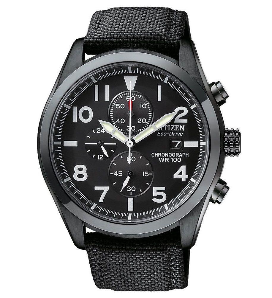 66b7582b5 Citizen CA0255-01E Men's Eco-Drive Sport Chronograph Black Dial Watch -  Discount Watch Store