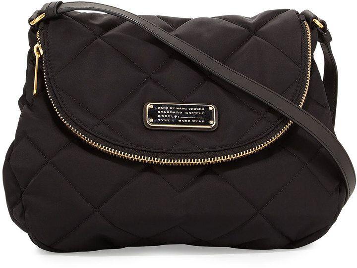 e5be0f1099d MARC by Marc Jacobs Crosby Quilted Nylon Natasha Crossbody Bag, Black