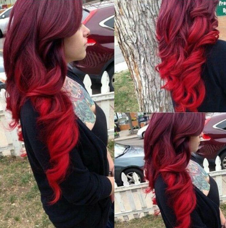 burgundy and red ombr hairstyles pinterest haar haarfarben und haarfarbe. Black Bedroom Furniture Sets. Home Design Ideas