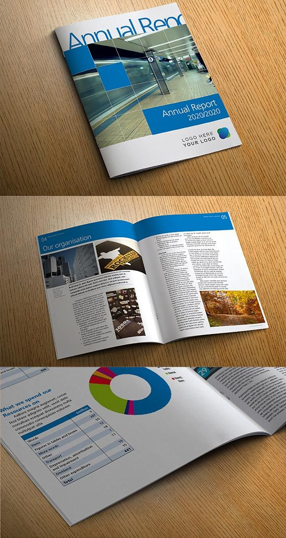 Indesign Annual Report Template  Gg    Annual Reports