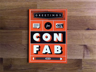 Great A Two Color Postcard For Confab   A Conference Where People Talk About  Content Strategy
